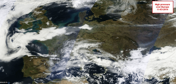 2014 clear and dry over Europe