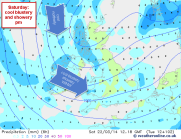 westerly flow with northerly origin
