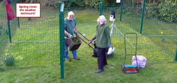 spring clean up in the enclosure