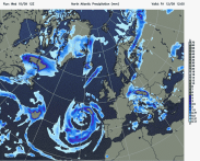 cut off low to SW and SE Europe
