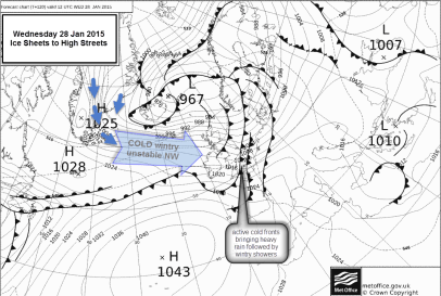 MetOffice chart cold front