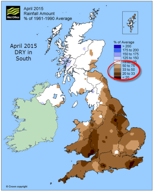 UK dry April