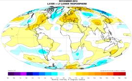 Global November temp anomaly