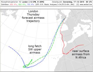 mild airmass origin 17 Dec 2015