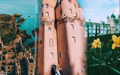 Megan Beaudry's collage of Castles in Aberdeen and Aberdeenshire