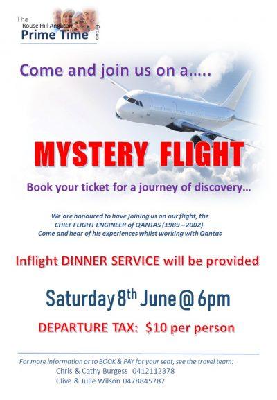 PRIME CHURCH ADVERT mystery flight