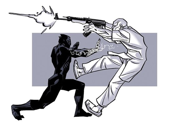 A concept drawing by Brian Stelfreeze that influenced the plot (Marvel Entertainment)