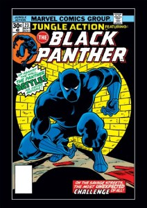 The September 1976 cover of Jungle Action, the first Marvel series starring the Black Panther (Marvel Entertainment)