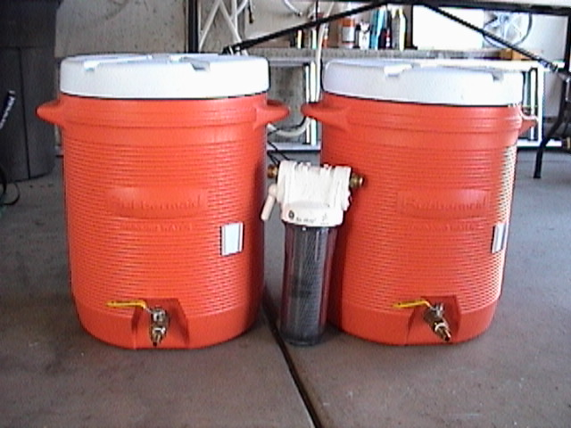 Lautertun, Hot Liquor Tank and Charcoal water filter