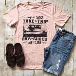T-Shirt Short Sleeve Letter Printed Casual Soft T shirt