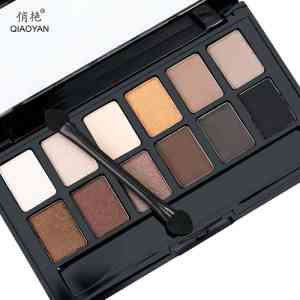 Shine NUDES 12Colors Matte Natural Eyeshadow Pallete with Brush