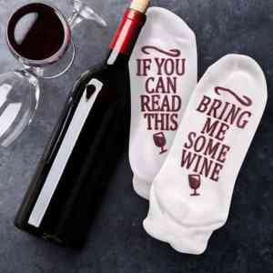 Beauty Fashion Women Socks IF YOU CAN READ THIS Bring Me Some Wine Casual Lady Socks