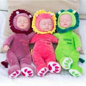 Stuffed Silicone Baby Born Doll Toys For Children Reborn Alive