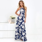 New Maxi Dresses Boho Style Floral Print Vintage Long Dress
