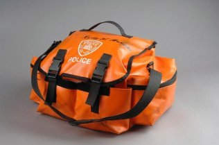 The medical bag that was recovered from Captain Mazza's car after the Towers' collapse