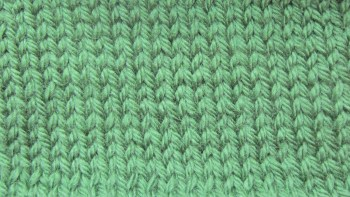Front of knit stitch, back of purl