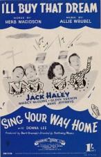 Vintage sheet music cover I'll Buy That Dream