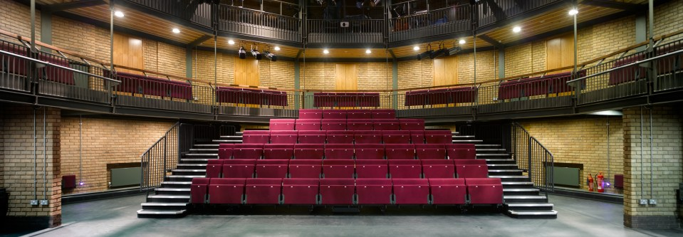 Raked seating in the Caryl Churchill Theatre