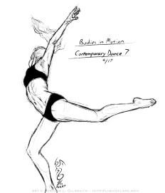Contemporary Dance 7 Sketch