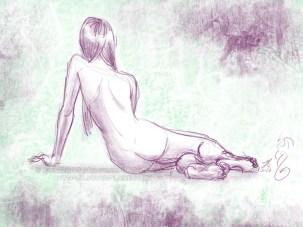 Reclining Violet