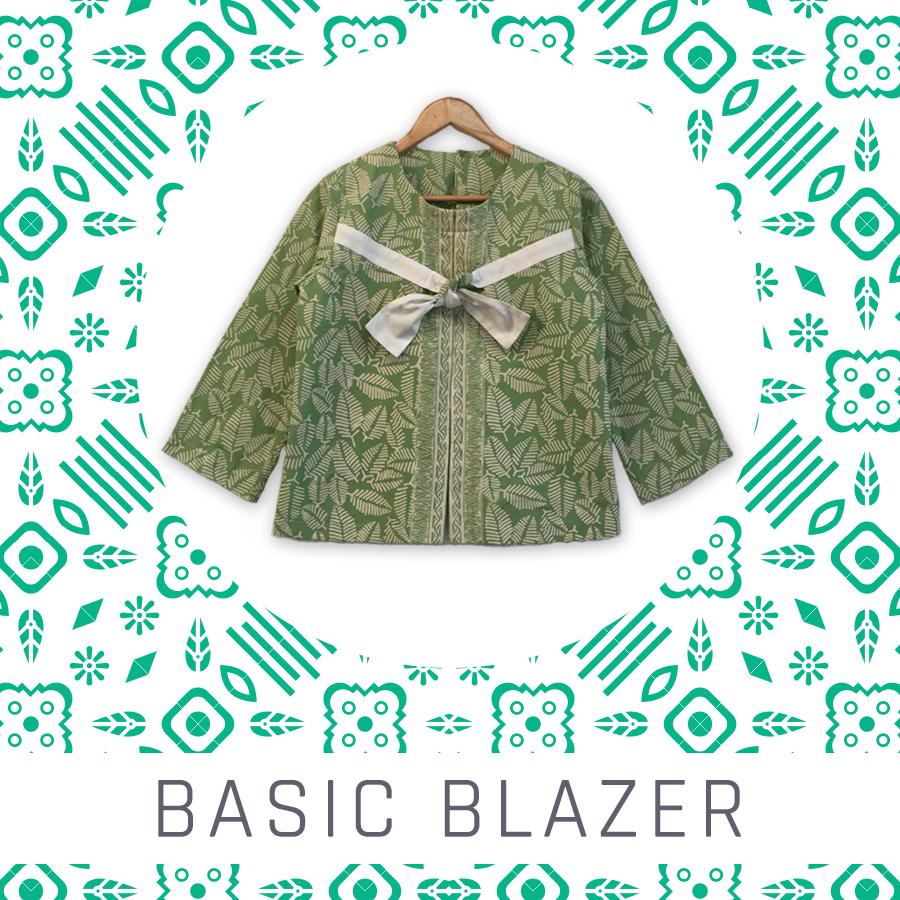 atasan wanita batik - basic blazer