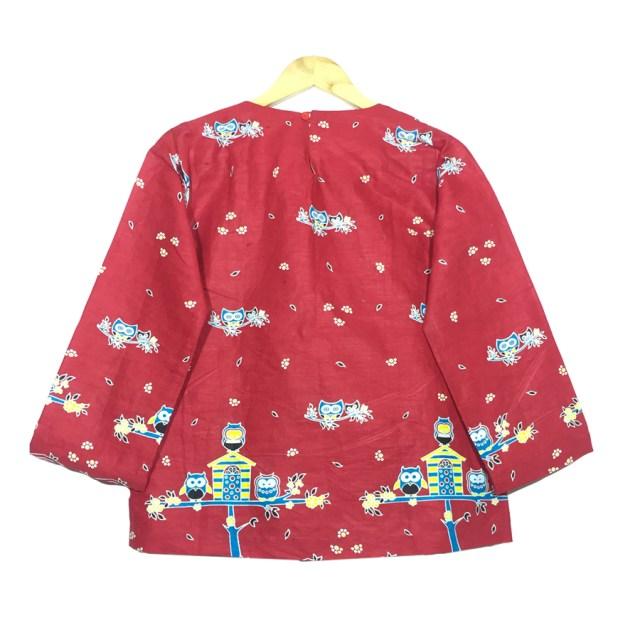 atasan blouse batik wanita lengan panjang