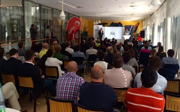Die Präsentation der 9 Geschäftsideen beim Finale des Startup Weekends Mainz stoß auf großes Interesse.