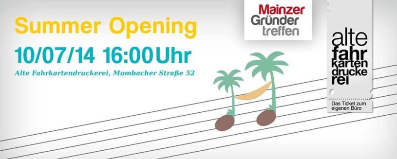 Mainzer Gründer Treffen - Sommer Opening 2014