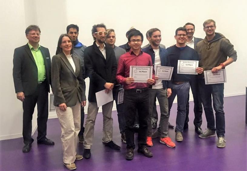 Das Team von IT-Seal, die den ersten Platz belegt haben (Bild: Entrepreneurs Club Darmstadt e.V.)