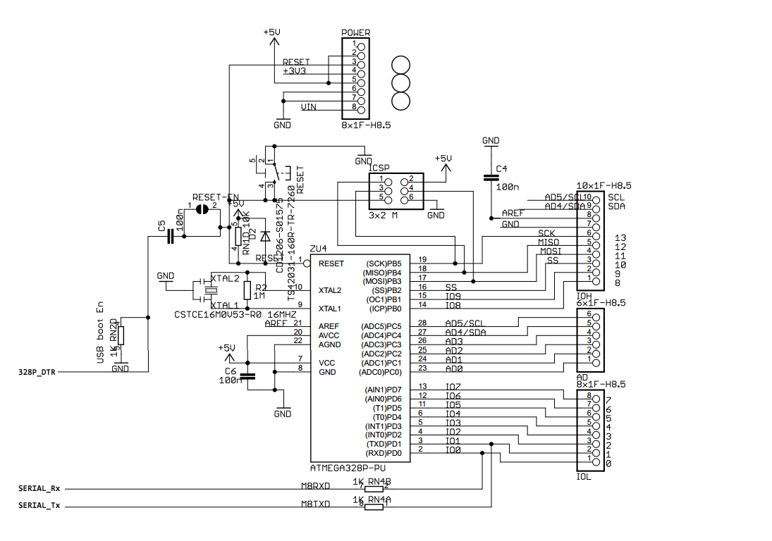 9 Pin Serial Pinout Schematic