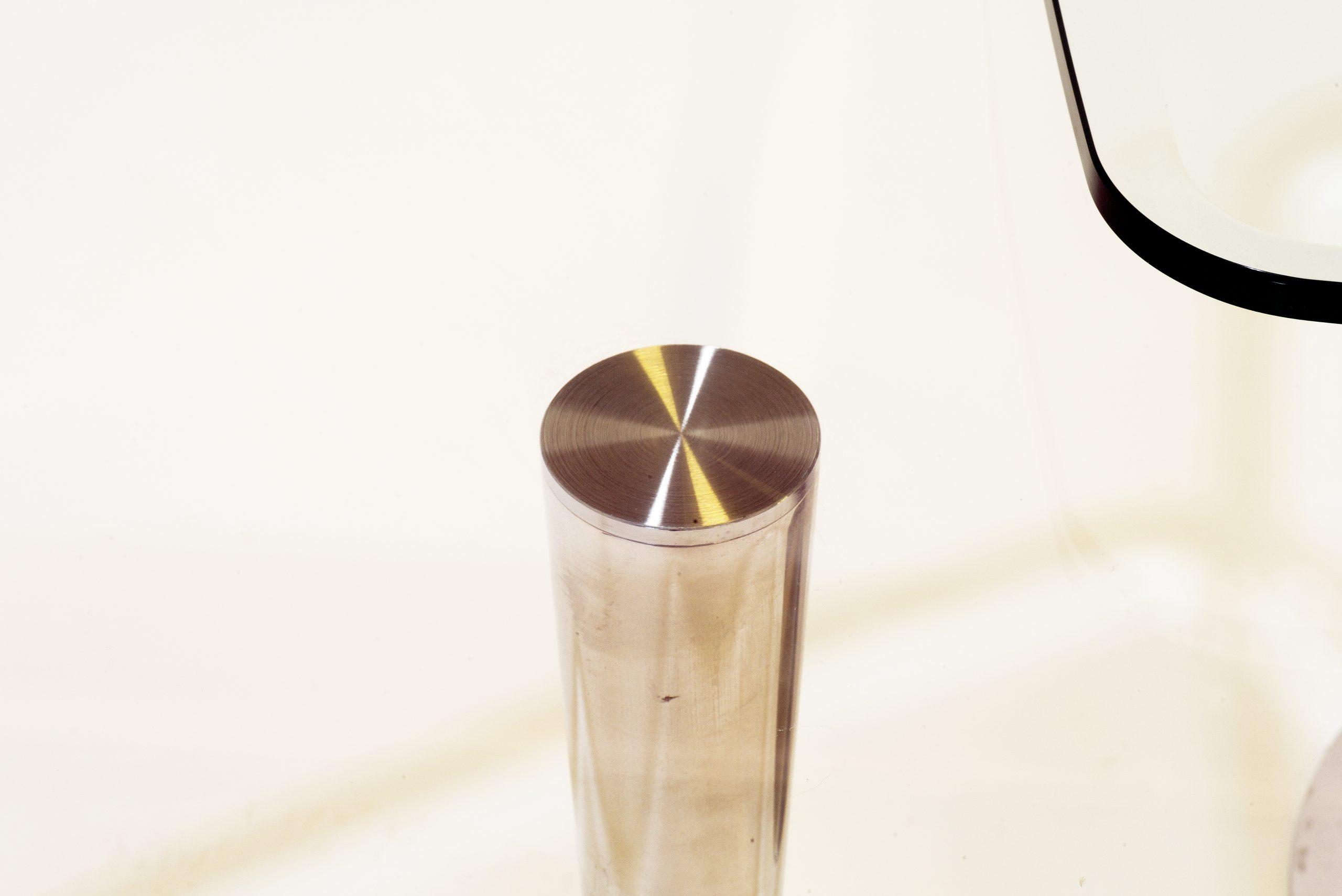 Side Tables Glas Chrom