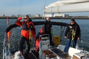 SKS Törn erfolgreich absolviert - Die Prüflinge beim Manövertraining vor Den Helder