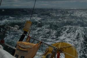 Schottland, Überfahrt zu den Äusseren Hebriden bei 7 bis 8 Beaufort
