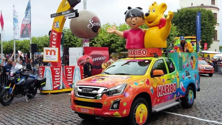 Haribo mit vielen bunten Autos