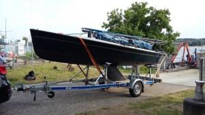 Ein neuer Polyvalk am Unterbacher See - das neue Boot der SKU