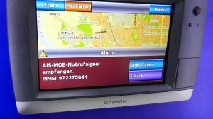 MOB Notruf auf dem Kartenplotter