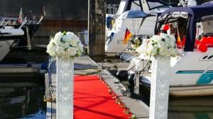 Heiratsantrag an Bord der Motoryacht Betti
