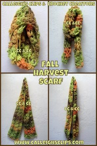 Fall Harvest Infinity Scarf by Calleigh's Clips & Crochet Creations