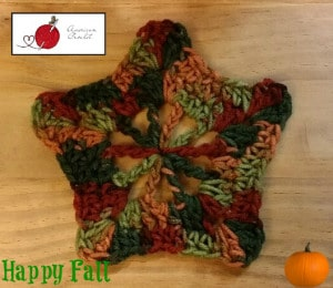Autumn 5 Point Star Motif by American Crochet