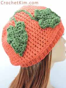 A Little Slouchy Pumpkin Hat by Crochet Kim