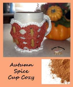 Autumn Spice Cup Cozy by Crochet Memories