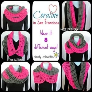 Coraline in San Francisco Cowl Wrap by Simply Collectible