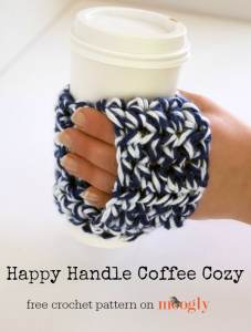 Happy Handle Coffee Cozy by Moogly