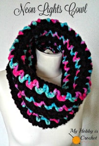 Neon Lights Cowl by My Hobby is Crochet