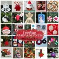 Christmas Ornaments ~ 25 FREE Crochet Patterns