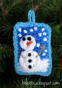 Snowy Day Pillow Ornament by Fiber Flux