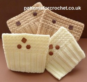 Patterned Boot Cuffs by Patterns For Crochet