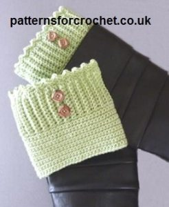 Boot Cuffs by Patterns For Crochet