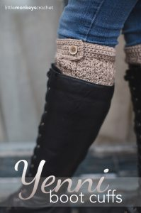 Yenni Boot Cuffs by Little Monkeys Crochet