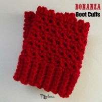 My First Tea Party at 2 Crochet Hooks ~ Bonanza Boot Cuffs